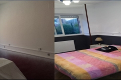 pintura habitacion en 2 colores